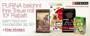 Purina Hundenahrung im Wert von 50� kaufen und 10� Sofortrabatt sichern.