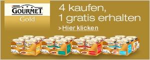 Jetzt 4x Gourmet Gold kaufen und 1x gratis erhalten.