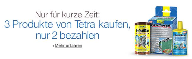 2+1 Aktion von Tetra: 3 Produkte von Tetra kaufen, nur 2 bezahlen.