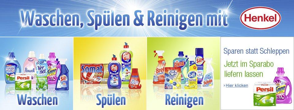 Waschen, spülen und reinigen mit Henkel