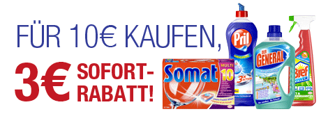 Henkel Produkte für 10€ kaufen und 3€ Rabatt erhalten bei Amazon