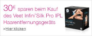 30� Rabatt auf das Veet Infini'Silk Pro IPL Haarentfernungsger�t