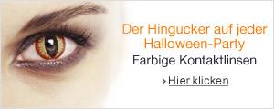 Farbige Kontaktlinsen f�r Halloween