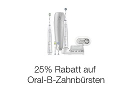 25% Rabatt auf Oral-B Zahnbürsten