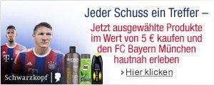 Kaufen Sie Schwarzkopf Produkte im Wert von 5 EUR und erleben Sie den FC Bayern hautnah