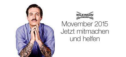 Movember 2015 mit Wilkinson