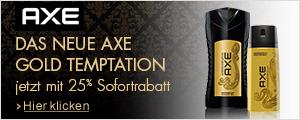 25% Sofortrabatt auf das neue Axe Gold Temptation
