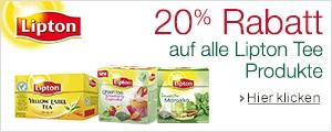 20% Sofortrabatt uaf Lipton Tee