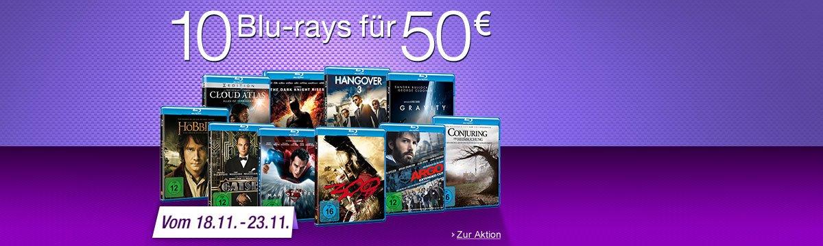 Zehn Blu-rays für 50 Euro