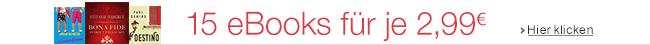 15 eBooks für je 2,99 EUR