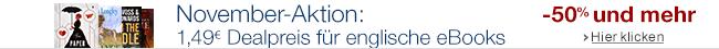 20 englische eBooks für je 1,49 EUR