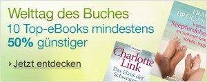 Welttag des Buches: Das Beste aus unseren Kindle Deals - 10 Top-eBooks mindestens 50% reduziert