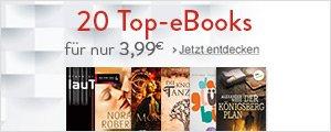 Wir lieben eBooks: 20 ausgewählte Top-eBooks für nur 3,99€