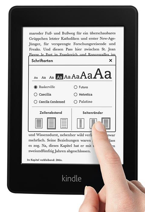 feature design. V385944875  Kindle Paperwhite 3G, 15 cm (6 Zoll) hochauflösendes Display mit integrierter Beleuchtung, Gratis 3G + WLAN