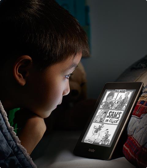 feature kid. V385944869  Kindle Paperwhite 3G, 15 cm (6 Zoll) hochauflösendes Display mit integrierter Beleuchtung, Gratis 3G + WLAN
