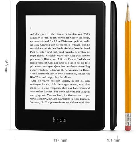 technical. V385944844  Kindle Paperwhite 3G, 15 cm (6 Zoll) hochauflösendes Display mit integrierter Beleuchtung, Gratis 3G + WLAN