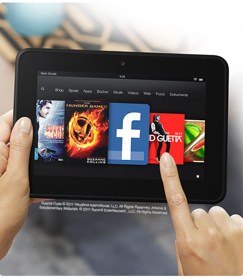 feature easy. V389714098  Kindle Fire HD, 17 cm (7 Zoll), Dolby Audio System, Dualband WLAN, 16 GB   Mit Spezialangeboten