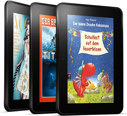 feature magazines. V389704265  Kindle Fire HD, 17 cm (7 Zoll), Dolby Audio System, Dualband WLAN, 32 GB