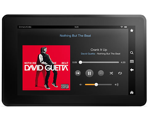 feature music. V389377580  Kindle Fire, 17 cm (7 Zoll), LCD Display, WLAN, 8 GB