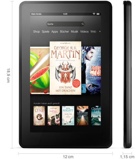 technical. V389686403  Kindle Fire, 17 cm (7 Zoll), LCD Display, WLAN, 8 GB   Mit Spezialangeboten