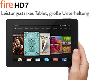 Post image for Amazon Kindle Fire HD 7 – 7″ Tablet für 79€