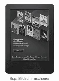 Kindle e-reader: example sponsored screensavers