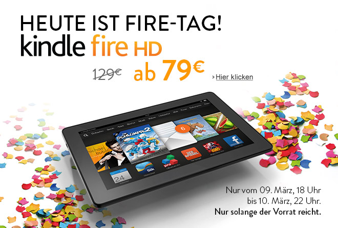 Fire-Tag: Kindle Fire HD, ab nur 79 EUR