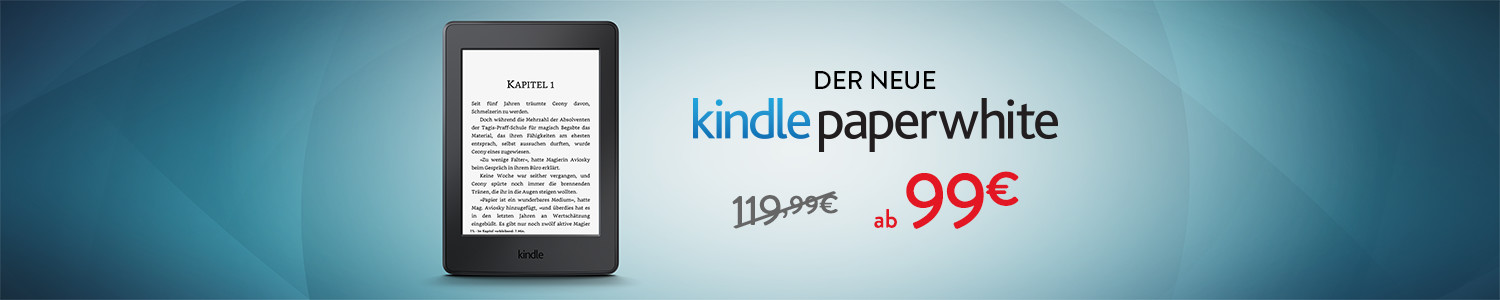 Kindle Paperwhite ab 109 EUR