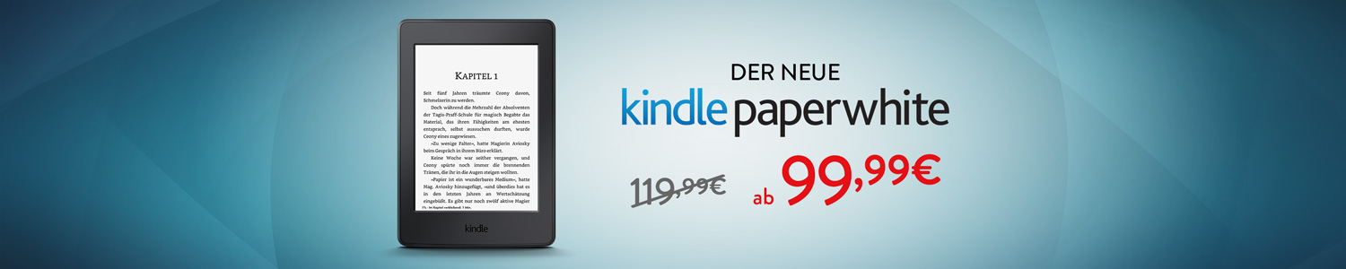 Kindle Paperwhite ab 99,99 EUR