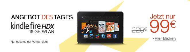 Kindle Fire HDX: 130 EUR sparen