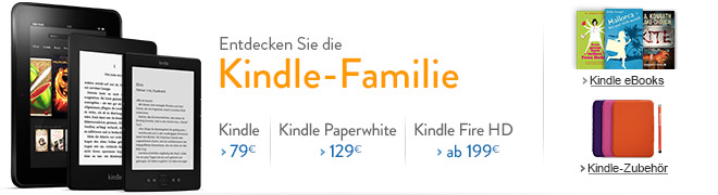 Entdecken Sie die Kindle-Familie