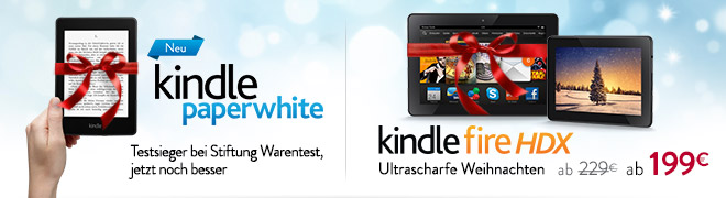 Ultrascharfe Weihnachten: Kindle Fire HDX