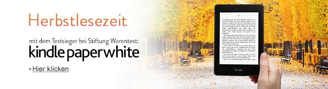 Kindle Paperwhite: Herbstlesezeit mit dem Testsieger