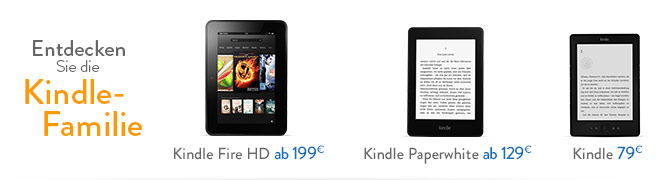 Entdecken Sie die neue Kindle-Familie