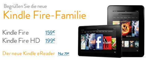 Teaser Bild für Amazon Special: die neue Kindle Fire Familie