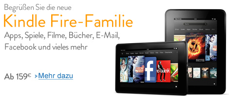 Die neue Kindle Fire-Familie