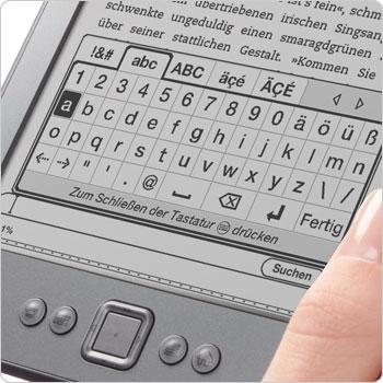 Cursorpad und virtuelle Tastatur zum Navigieren