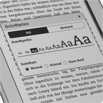 Acht verschiedene Schriftgren und drei Schriftarten