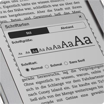 Acht verschiedene Schriftgr��en und drei Schriftarten