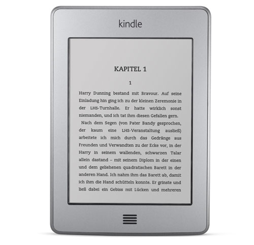 Kindle Touch 3G eReader: Vorderansicht