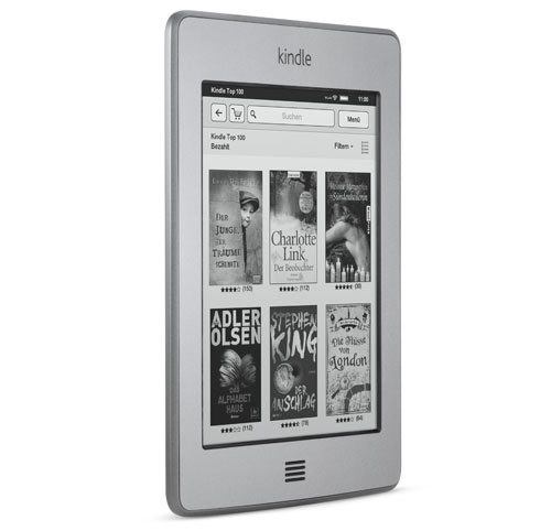 Kindle Touch 3G eReader: Breite im Vergleich zu einem Bleistift