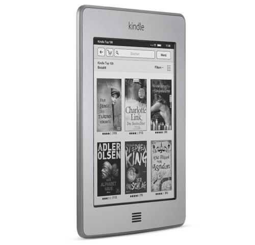 Kindle Touch 3G eReader: Breite im Vergleich zu einem Bleistift