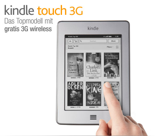 Kindle Touch 3G e-reader