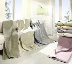 Decken aus Bio-Baumwolle