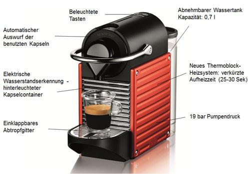 krups xn 3006 nespresso pixie electric red nespresso. Black Bedroom Furniture Sets. Home Design Ideas