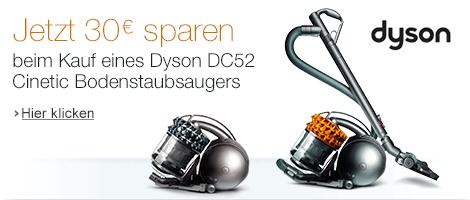 30 EUR Extra-Rabatt auf Dyson DC52 Cinetic Bodenstaubsauger