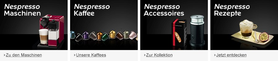 Nespresso Kaffee-Produkte