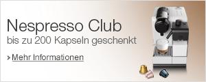 Nespresso Club: bis zu 200 Kapseln geschenkt