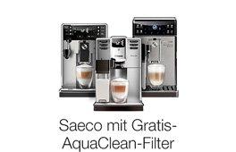 Jetzt Saeco-Kaffeevollautomat kaufen und AquaClean-Filter gratis sichern