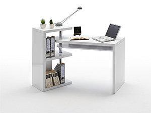schreibtisch mattis mdf hochglanz wei lackiert. Black Bedroom Furniture Sets. Home Design Ideas